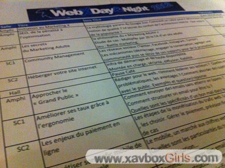 Programme WebX Day Night
