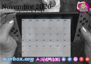 calendrier Xavbox 2020